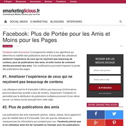 Facebook: Plus de Portée pour les Amis et Moins pour les Pages