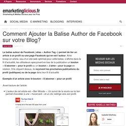 Comment Ajouter la Balise Author de Facebook sur votre Blog?