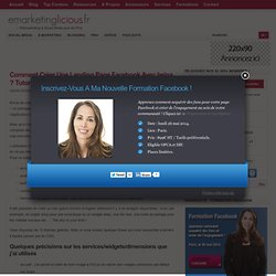 Comment Créer Une Landing Page Facebook Avec Iwipa ? Tutoriel Vidéo
