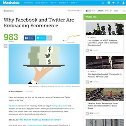 Why Facebook and Twitter Are Embracing Ecommerce