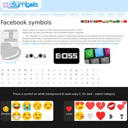 Facebook Symbols (cool text character codes)