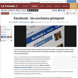 Sociétés : Facebook : les enchères grimpent