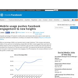 Mobile usage pushes Facebook engagement to new heights