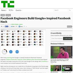 Facebook Engineers Build Google+ Inspired Facebook Hack