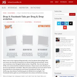 Drap it: Facebook-Tabs per Drag & Drop erstellen