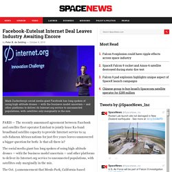 Facebook-Eutelsat Deal Leaves Industry Awaiting Encore