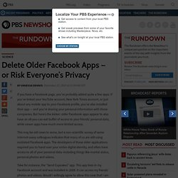 Delete Older Facebook Apps