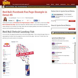 Red Bull: Facebook Fan Page Example in Detail #5