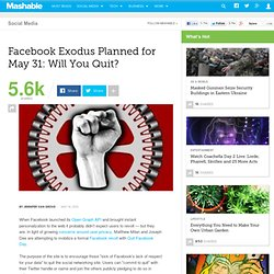 Facebook Exodus Planned for May 31: Will You Quit?
