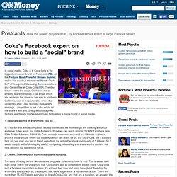 Un résumé des points principaux par la VP Marketing de Coca-Cola