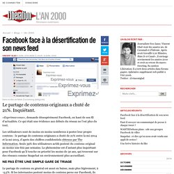 Facebook face à la désertification de son news feed