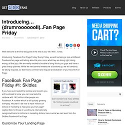 Facebook Fan Page Friday | Get 10,000 Fans
