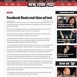 Facebook floats chat-to-ad test - m.NYPOST.com
