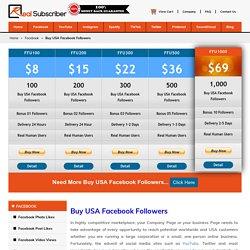 Buy USA Facebook Followers -100% Active, Organic, Safe & Cheap rate
