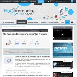 """Un faux site Facebook """"phishe"""" les français"""