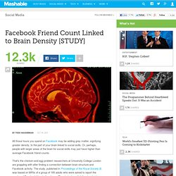 Facebook Friend Count Linked to Brain Structure [STUDY]