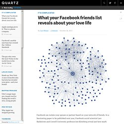 What your Facebook friends list reveals about your love life
