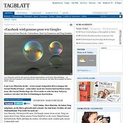 St.Galler Tagblatt Online - «Facebook wird genauso gross wie Google»