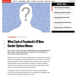 What Each of Facebook's 51 New Gender Options Means