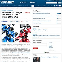 + Facebook vs. Google: The battle for the future of the Web - Nov. 3