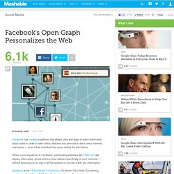 Facebook's Open Graph Personalizes the Web