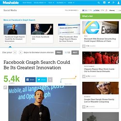 Facebook Graph Search Could Be Its Greatest Innovation