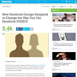 New Facebook Groups Designed to Change the Way You Use Facebook [VIDEO]