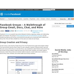 Facebook Groups – A Walkthrough of Group Email, Docs, Chat, and More