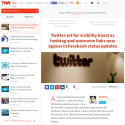 Facebook Showing Status Update Links to Hashtags and Twitter Usernames