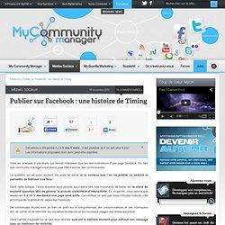 Publier sur Facebook : une histoire de Timing