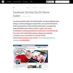 Facebook: Hol Dir Deine Daten!