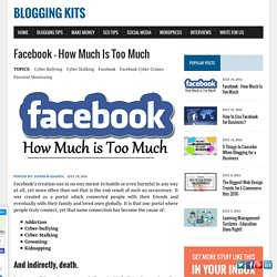 Facebook – How Much Is Too Much