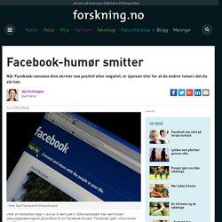 Facebook-humør smitter
