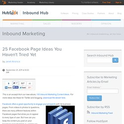 25 Facebook Page Ideas You Haven't Tried Yet