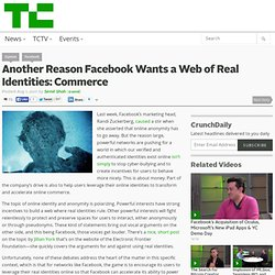 Another Reason Facebook Wants a Web of Real Identities: Commerce