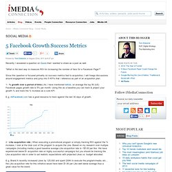 5 Facebook Growth Success Metrics