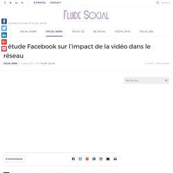 L'étude Facebook sur l'impact de la vidéo dans le réseau