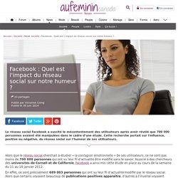 Facebook : Quel est l'impact du réseau social sur notre humeur ?