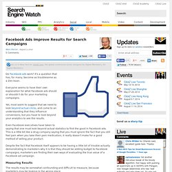 Facebook Ads Improve Results for Search Campaigns