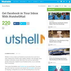 How to get Facebook in your inbox with NutshellMail