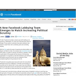 A New Facebook Lobbying Team Emerges