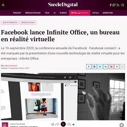 Facebook lance Infinite Office, un bureau en réalité virtuelle