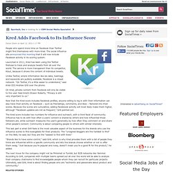 Kred Adds Facebook to Its Influence Score