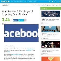 Killer Facebook Fan Pages: 5 Inspiring Case Studies