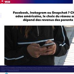 Facebook, Instagram ou Snapchat ? Chez les ados américains, le choix du réseau social dépend des revenus des parents