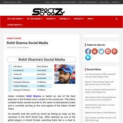 Rohit Sharma Social Media: Facebook, Twitter, Instagram Accounts ID & Followers