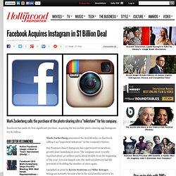 Facebook Acquires Instagram in $1 Billion Deal