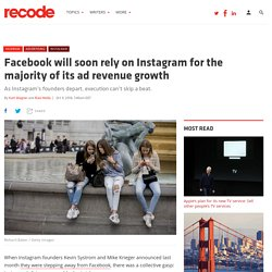 Facebook will soon rely on Instagram for the majority of its ad revenue growth