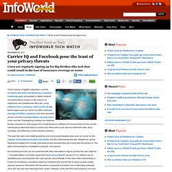 Carrier IQ and Facebook pose the least of your privacy threats | Internet privacy