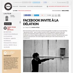 Facebook invite à la délation